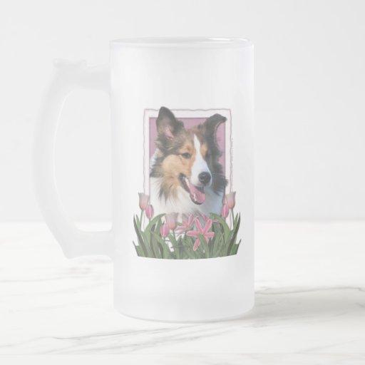 Thank You - Pink Tulips - Sheltie Mug