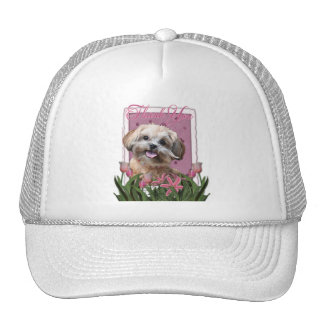 Thank You - Pink Tulips - ShihPoo - Maggie Trucker Hat