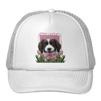 Thank You - Pink Tulips - Springer Spaniel -Baxter Trucker Hat