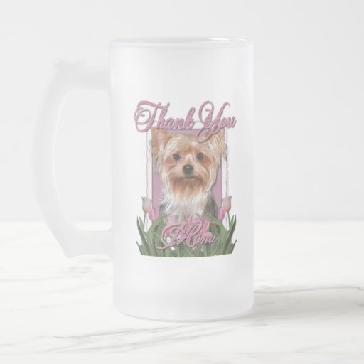 Thank You - Pink Tulips - Yorkshire Terrier Coffee Mug