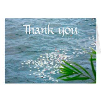 Thank You Plumerias in Ocean Card