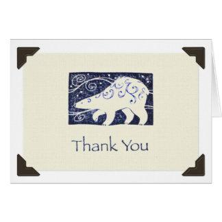 """""""Thank You"""" Polar Bear Notecard"""