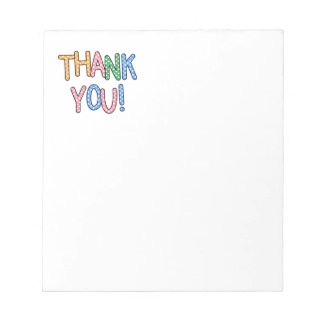 Thank You Polka Dot Text Expression Notepad