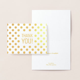 Thank You | Polka Dots Gold Foil Card