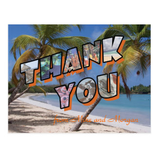 Thank you post cards for Mexico destination weddin