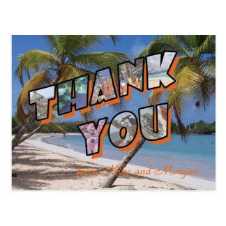 Thank you post cards for Mexico destination weddin