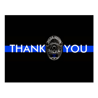 THANK YOU POSTCARD FOR POLICE