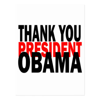 Thank You President Obama Post Cards