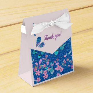 Thank you pretty butterflies and flowers favour box