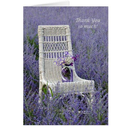 Thank You Purple Bouquet Card