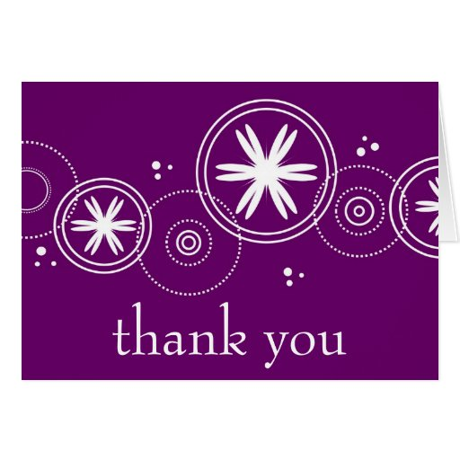thank you, purple cards