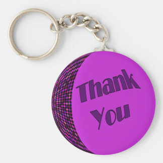 Thank You Purple Key Ring