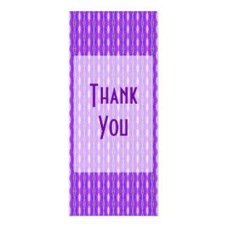 "Thank You purple pattern 4"" X 9.25"" Invitation Card"