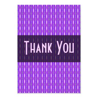"Thank You purple pattern 5"" X 7"" Invitation Card"