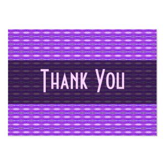 Thank You purple pattern 13 Cm X 18 Cm Invitation Card