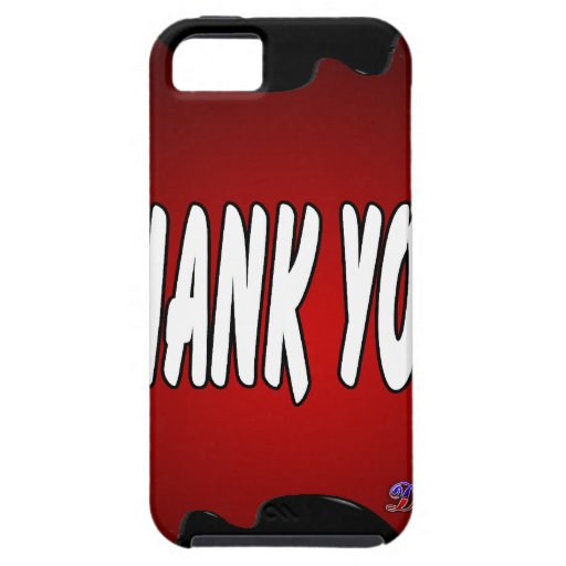 THANK YOU RED BACKGROUND PRODUCTS iPhone 5 COVERS