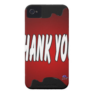 THANK YOU RED BACKGROUND PRODUCTS iPhone 4 CASES