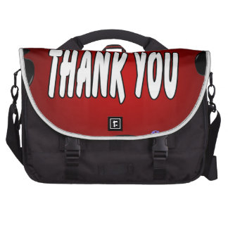 THANK YOU RED BACKGROUND PRODUCTS COMPUTER BAG