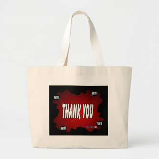 THANK YOU RED BACKGROUND PRODUCTS BAG