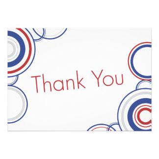 Thank You - Red Blue Circles Custom Invitation