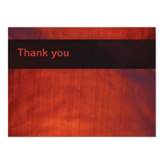 Thank You Red LED Wash Lighting 6.5x8.75 Paper Invitation Card