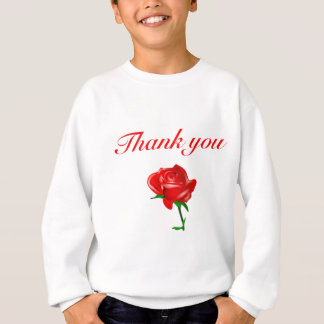 thank you red rose sweatshirt