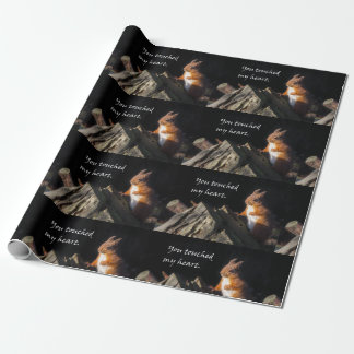 Thank you red squirrel wrapping paper