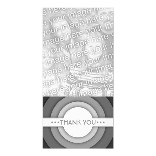THANK YOU (retro) Personalized Photo Card