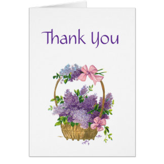 Thank You Retro Style Vintage Floral Bouquet Greeting Cards