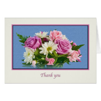 Thank you, Rose Bouquet Greeting Card