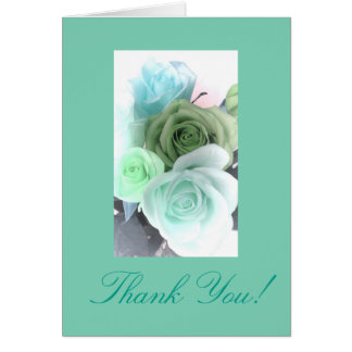 Thank you rose bouquet note card