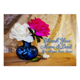 Thank you roses for Mum and dad Greeting Card