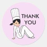 Thank you Round Sticker