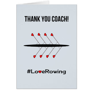 Thank you rowing coach card