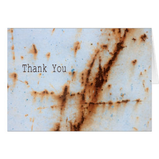 Thank You - Rust on Blue Greeting Card