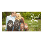 Thank You Script Lettering Overlay Photo Cards