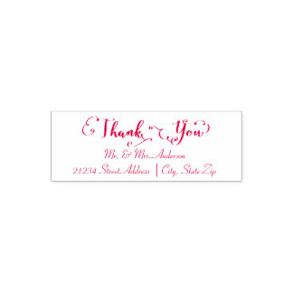 Thank You Script - Self Inking Address Stamp