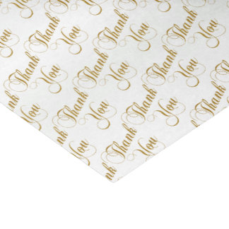 Thank You Script Word Pattern Tissue Paper