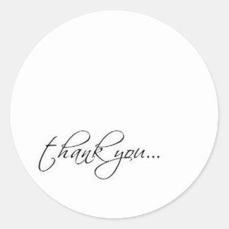 thank you scriptina round sticker