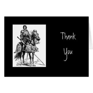 Thank You, Scripture & Knight in Shining Armor Greeting Card