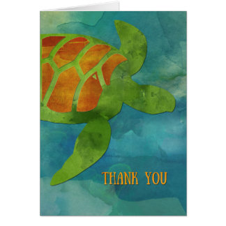 Thank You Sea Turtle Card