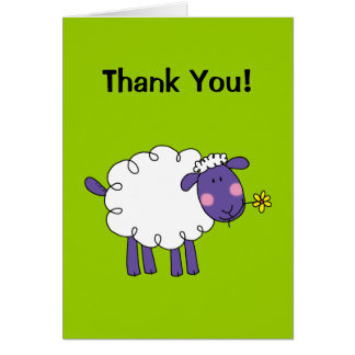 Thank You! (sheep) Greeting Card