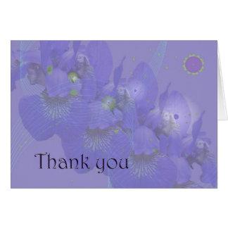 Thank You - Siberian Iris Card