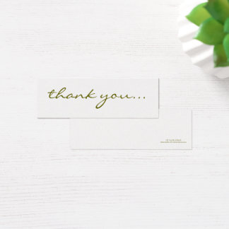 Thank You: Silver Greeting Tag