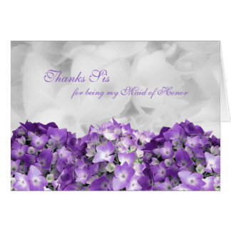 Thank You Sister Maid of Honour Custom Note Card