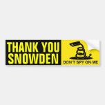 Thank You Snowden Bumper Stickers