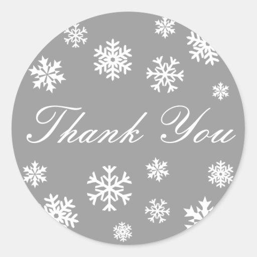 Thank You Snowflakes Envelope Sticker Seal