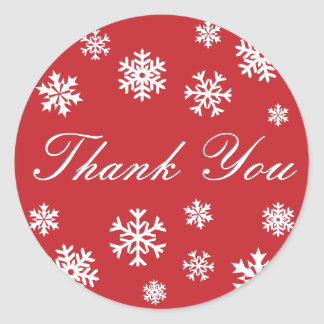 Thank You Snowflakes Envelope Sticker Seal