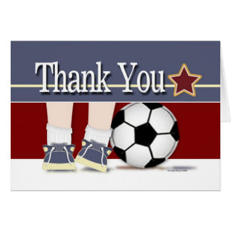 Thank You Soccer Card Template