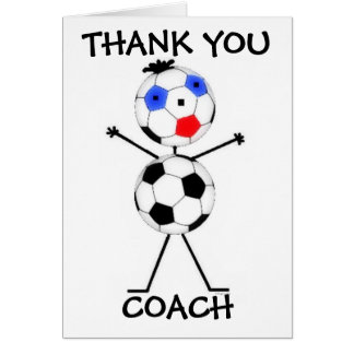 Thank You Soccer Coach Greeting Cards